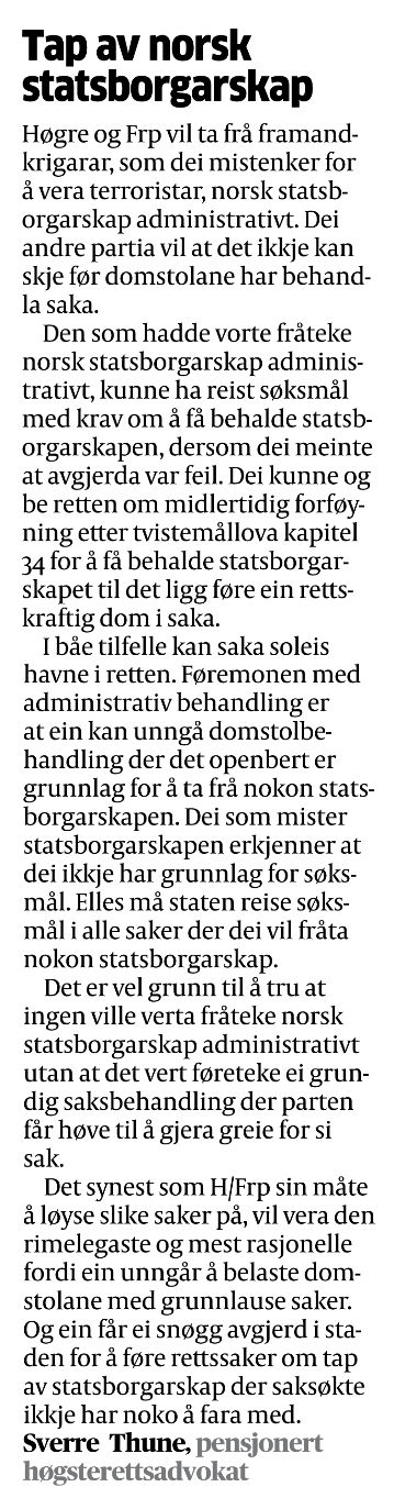 asylpolitikken store norske leksikon